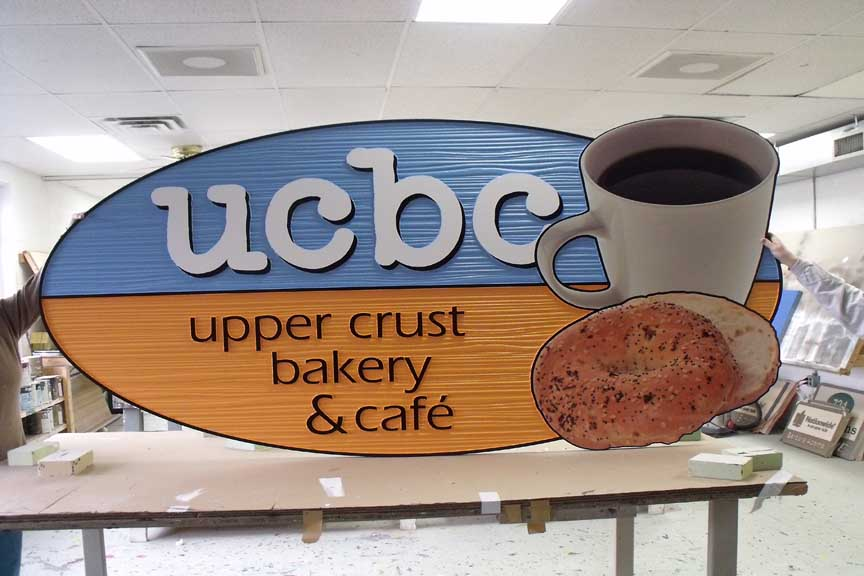 UCBC Carved and sandblasted sign