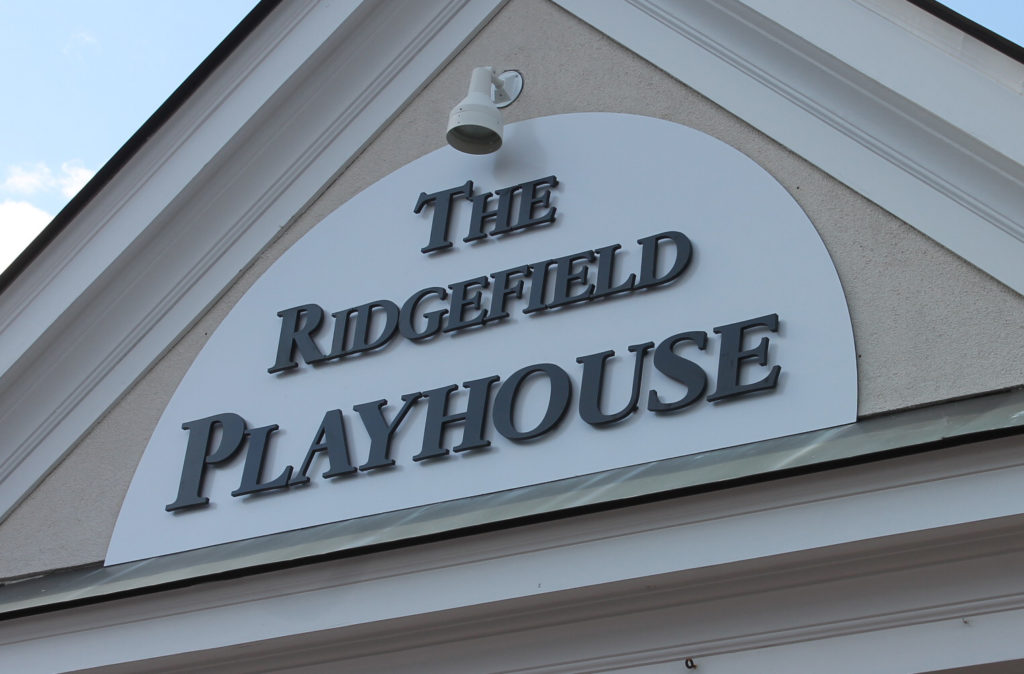 Ridgefield playhouse dimensional letters
