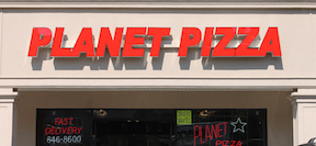 Planet Pizza Channel Letters