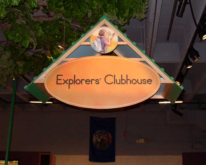 Explorers cluhouse themed sign