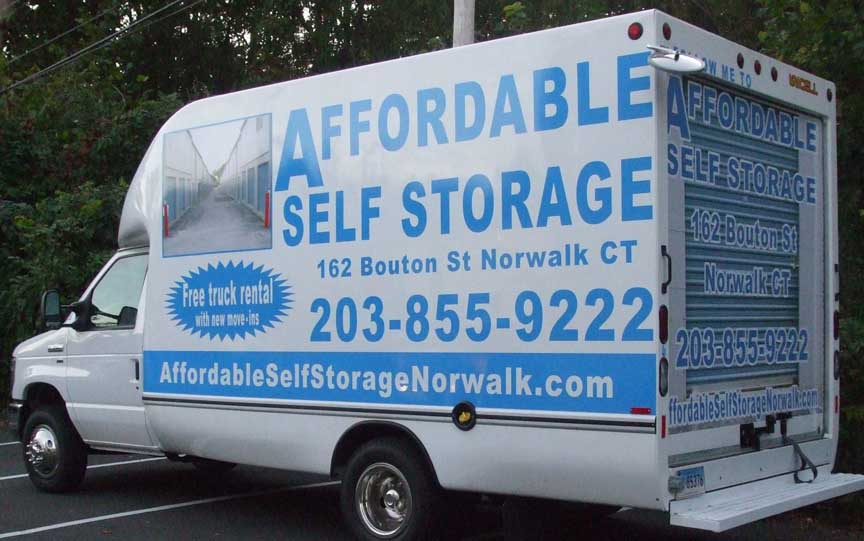 affordable self storage van vehicle lettering