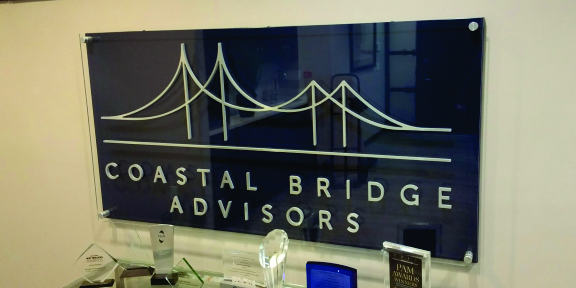 coastal bridge advisors custom offcie sign