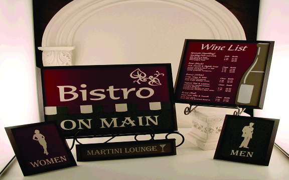 Bistro on main Laser Engraved Signs