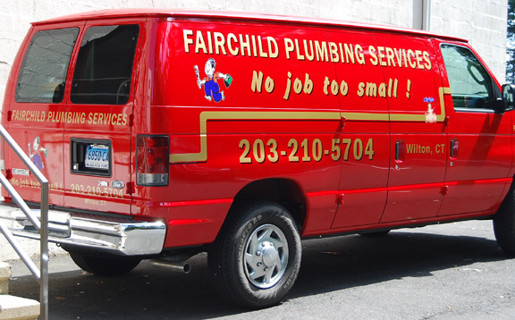 fairchild van vehicle lettering