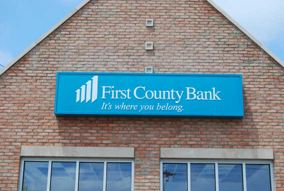 First County Bank Illuminated sign