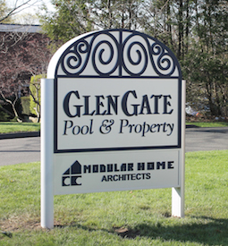 glen gate post and panel sign