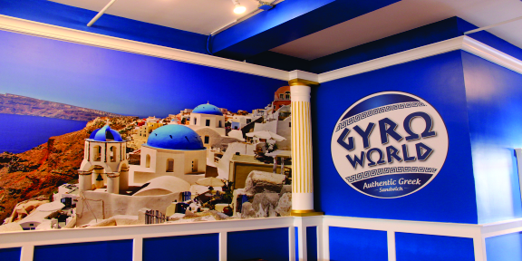 gyro world wall graphic digital prints