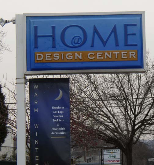 Home design center illuminated sign