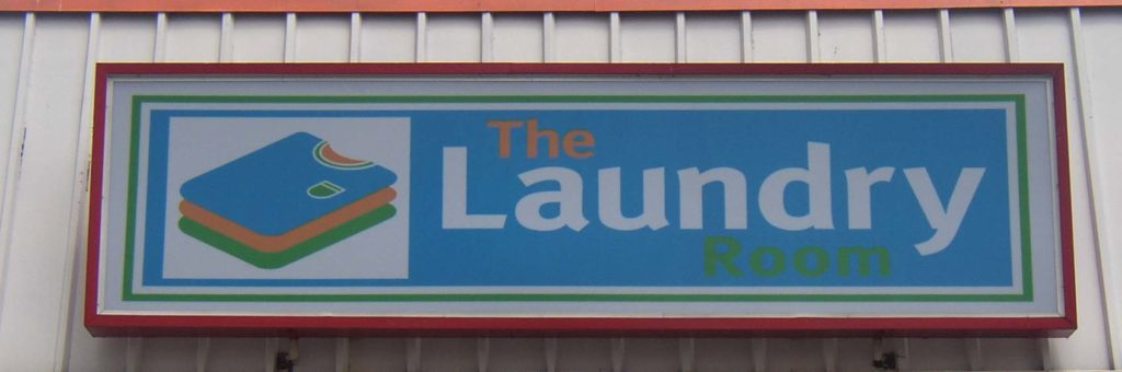 The laundry illuminated sign