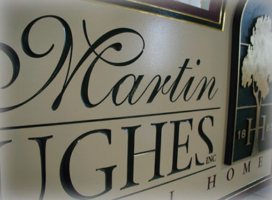 martinhughes carved sign