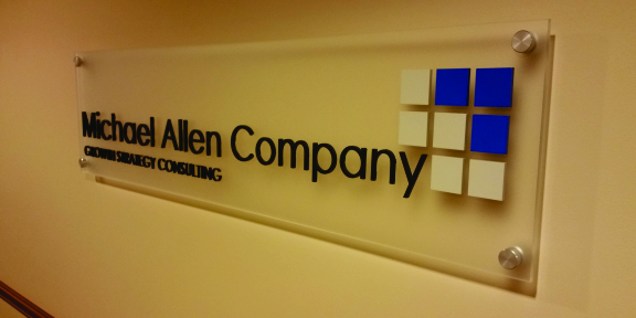 michael allen company custom office sign