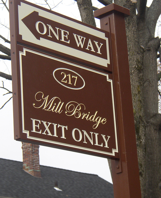 millbridge post and panel sign