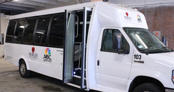 nbc serlin van vehicle lettering