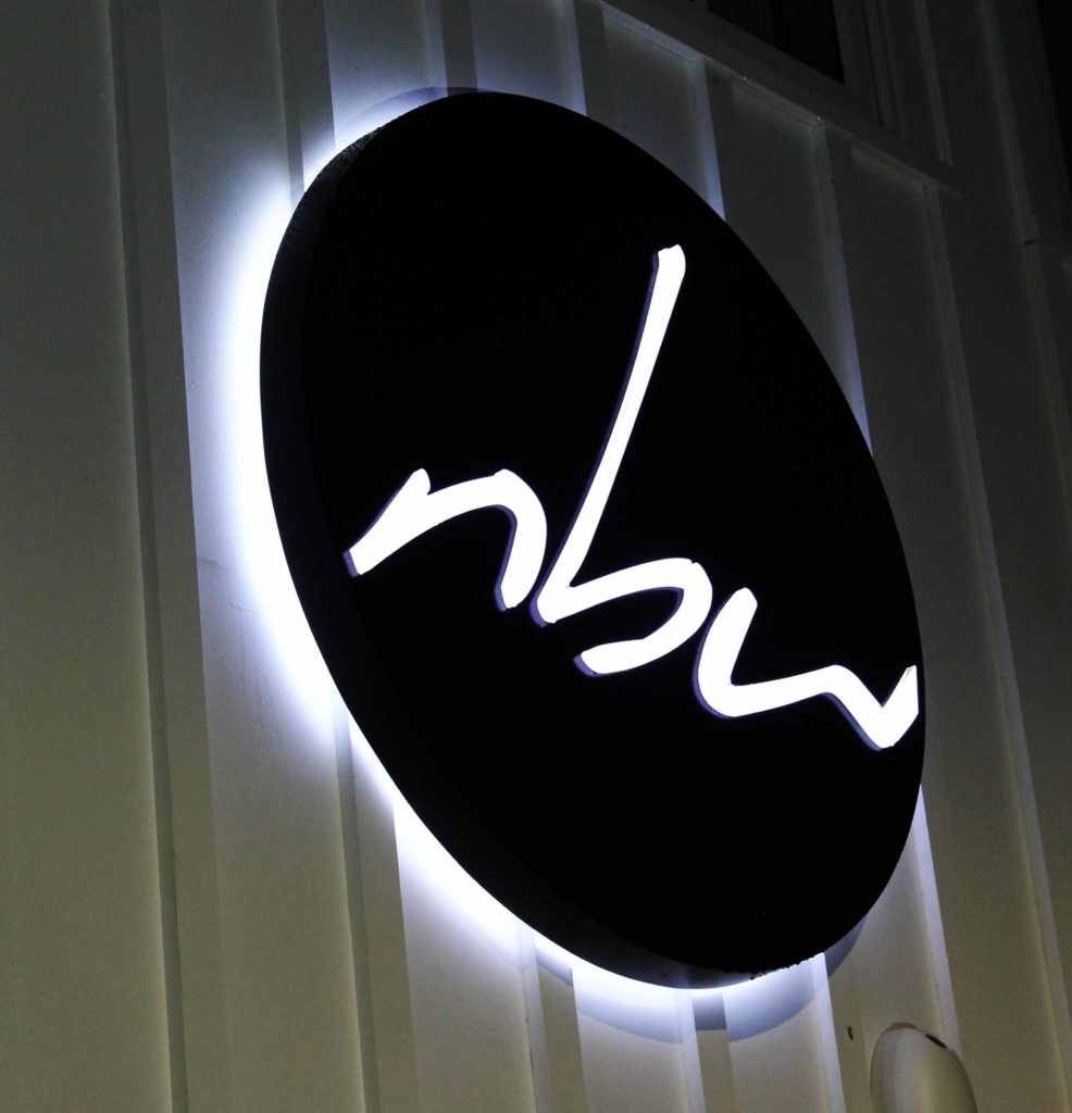 nbw illuminated Sign