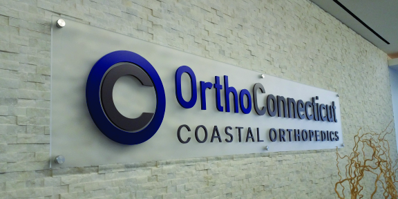 ortho ct acrylic sign