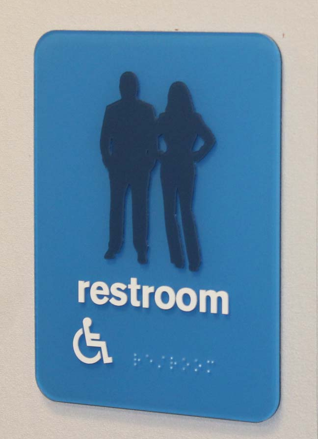 priceline restroom Laser Engraved Signs
