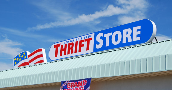 Thrift Store illuminated sign