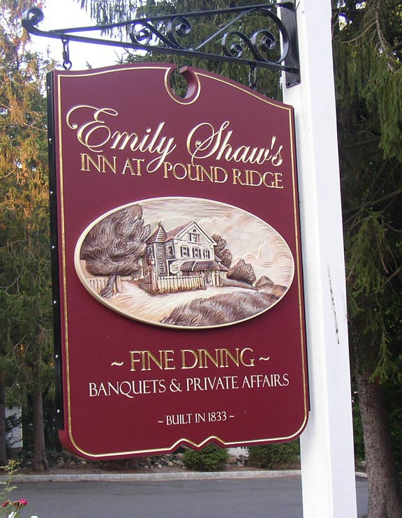 Emily Shaw carved sign