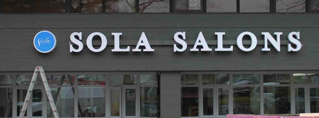 sola salons channel letters