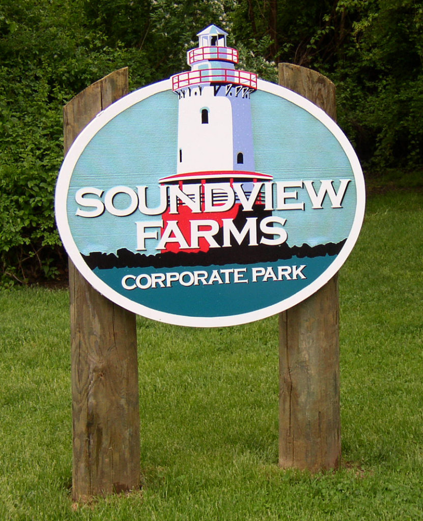 soundview post and panel sign