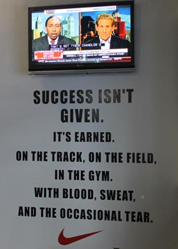 success isnt given sign