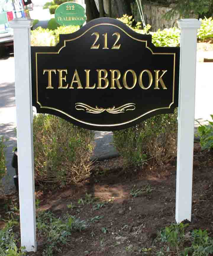 tealbrook post and panel sign