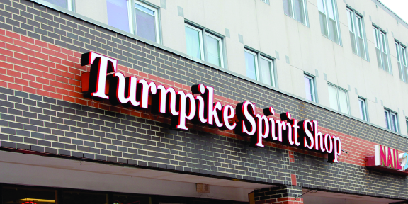 turnpike spirit shop channel letters