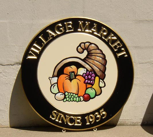 vilmarket carved sign