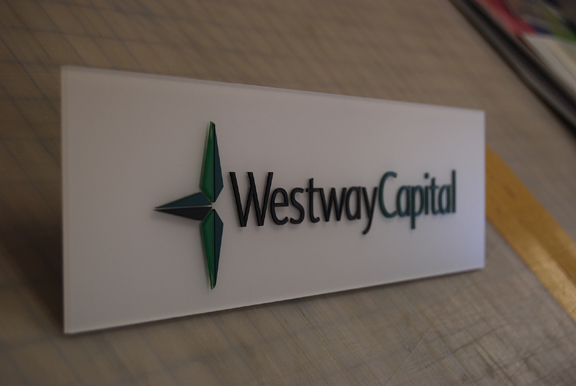 Westway Laser Engraved Signs