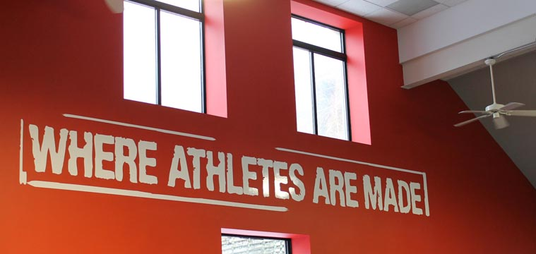 where athletes are made themed sign