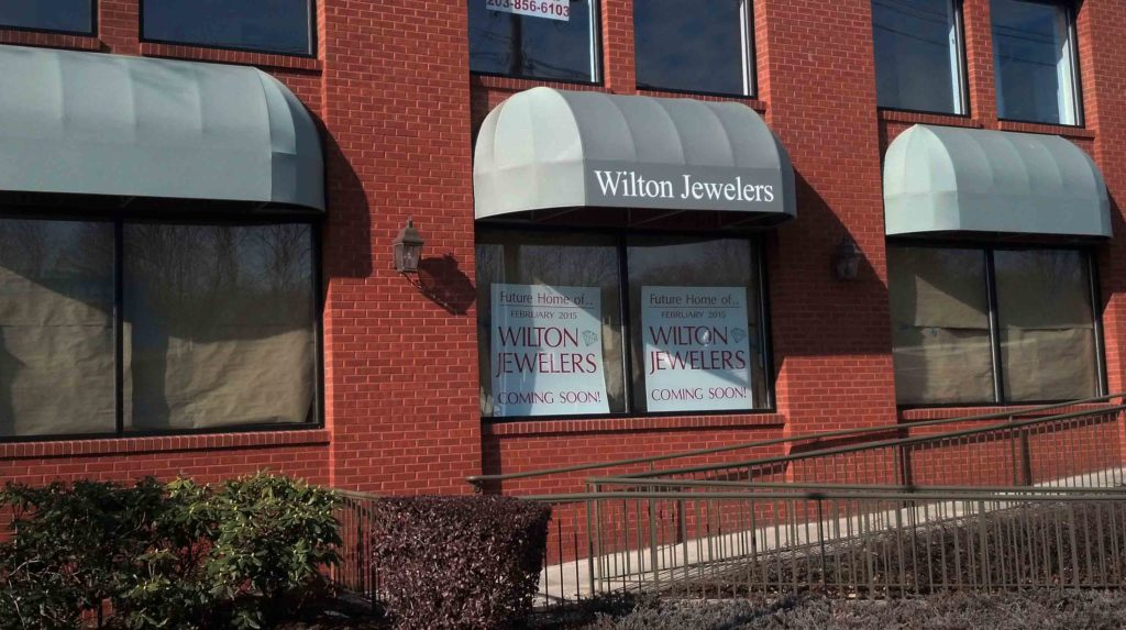 Wilton Jewelers awning