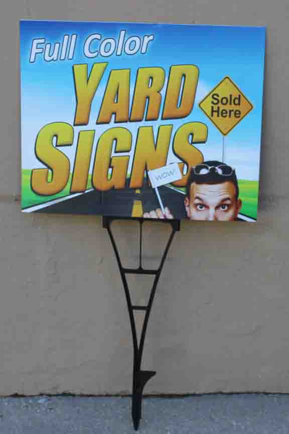 yardsigns side walk ad