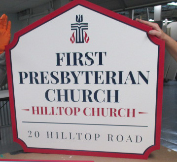 1st presbyterian church carved sign
