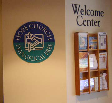 Hope chruch custom office sign