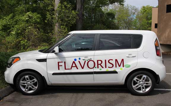 Flavorism vehicle lettering