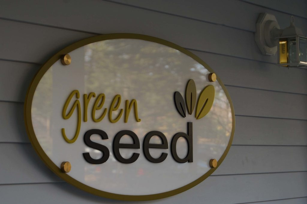 Green Seed Pan sign