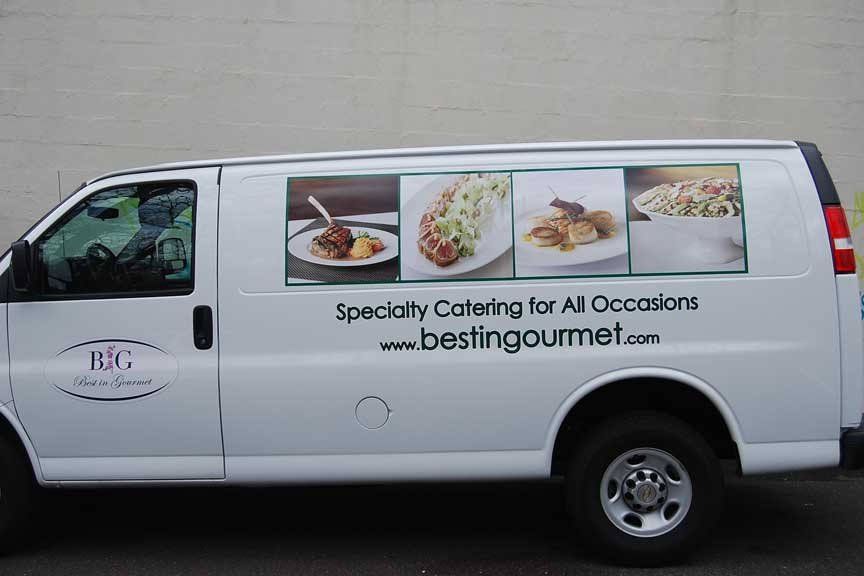Best in Gourment vehicle lettering