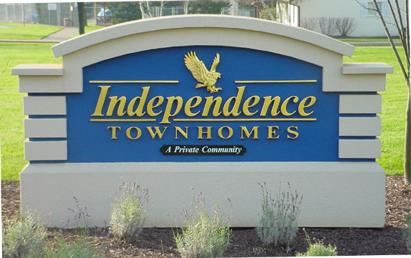 Independence Town homes carved