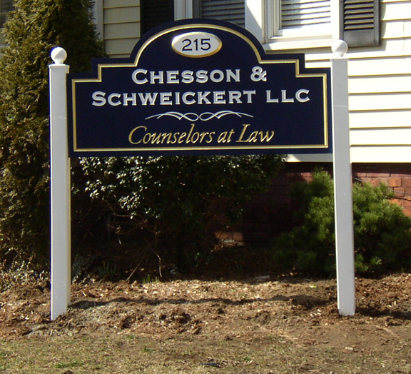 Chesson Panel and Post sign