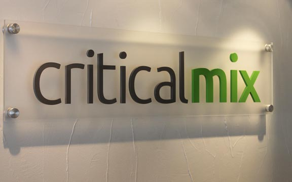 critical mix wall office signs