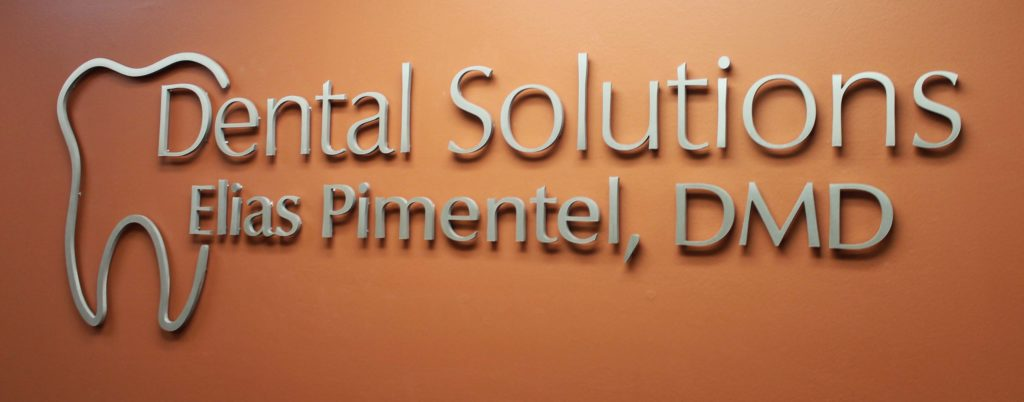 dental solutions office signs