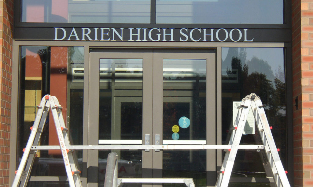 Darien High School Sign