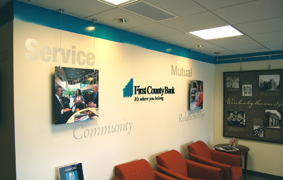 First County Bank Custom office sign