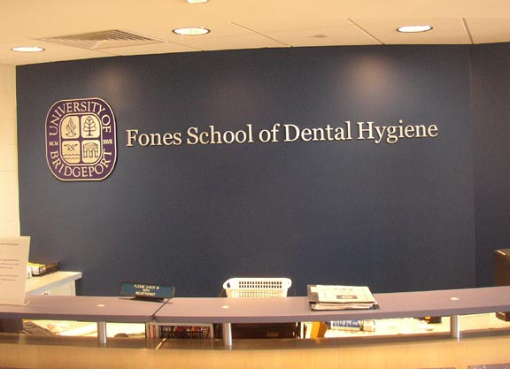 Fones School of Dental Hygiene Office sign