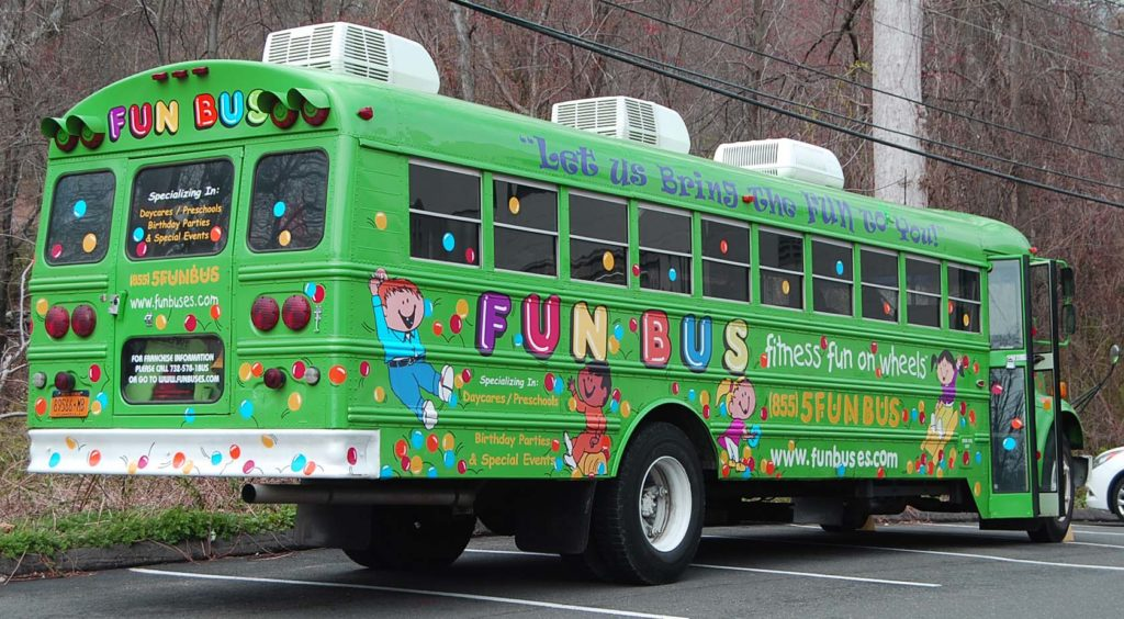 fun bus vehicle lettering