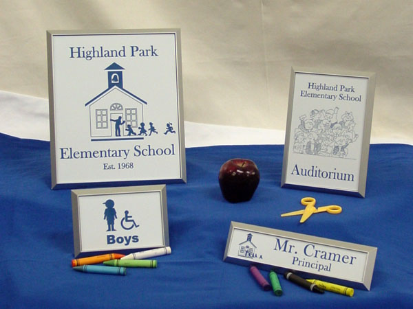 highland park desk signs
