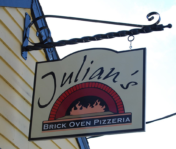 julians carved sign