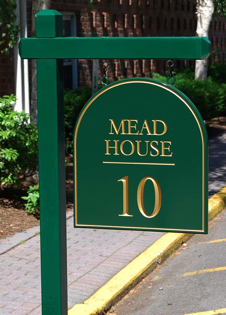 meadhouse post and panel sign