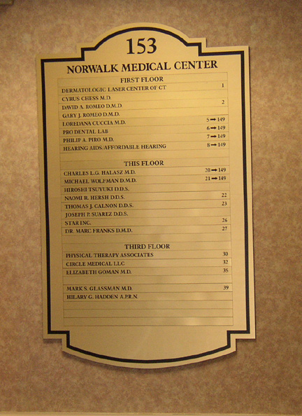 Norwalk medical center menu board
