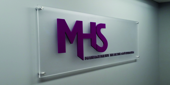 mhs acrylic sign carved